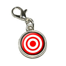 Target Sniper Scope Bullseye - Antiqued Bracelet Charm with Lobster Clasp