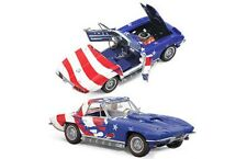 FRANKLIN MINT E498 CORVETTE STINGRAY model road car STARS & STRIPES 1967 1:24th