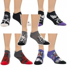 Marvel Villains Character Socks 5 Pack Deadpool Punisher Venom Marvel Comics