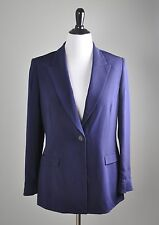 CARLISLE $495 100% Silk Structured Fully Lined Gem Button Blazer Top Size 14