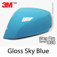 10x20cm FILM Gloss Sky Blue 3M 1080 G77 Vinyle COVERING Wrap Car Wrapping