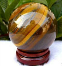 NEW 55mm Natural African roaring Tiger's Eye quartz crystal sphere ball AAA +