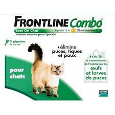 FRONTLINE COMBO POUR CHATS 3 PIPETTES ANTIPARASITAIRES
