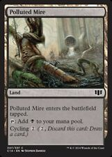 x4 Polluted Mire MTG Commander 2014 M/NM, English