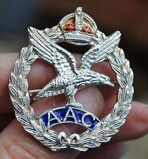 Army Air Corps solid silver sweetheart brooch badge