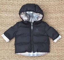 NEW Authentic BURBERRY BABY Black Infant Boy Winter Coat Jacket - 3 Months 3M