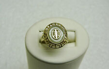 10K YELLOW GOLD ORIENTAL DESIGNED JADE RING SIZE 7 G29-O