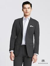 $415 BANANA REPUBLIC MONOGRAM 38R Suit Jacket Blazer Micro-Stripe Gray Slim Fit