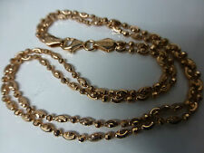 """Sterling Silver.925 Rose Gold Plated Beaded Double Anklet  10"""""""