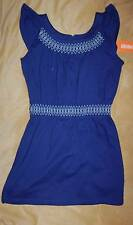 GIRL SIZE 8 GYMBOREE BLUE SAFARI ELASTIC WAIST SUMMER DRESS OR TUNIC TOP NEW