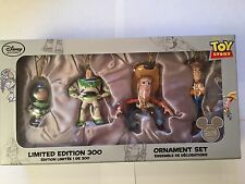 Toy Story BUZZ LIGHTYEAR & WOODY Ornaments Set of 4 LE 300 Disney Store