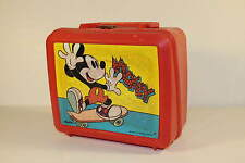 Mickey Mouse - On Skateboard - Vintage plastic Lunchbox