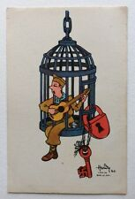CPSM. BAR LE DUC. 55 - Illustrateur HARDY. Guerre 1940. Camp. Cage. Guitare. Clé