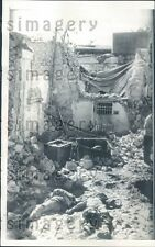1956 Bombing Victims Abuzabal Broadcasting Station Cairo Egypt Press Photo