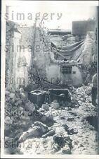 1956 Bombing Victims Abuzabal Broadcasting Station Cairo Egypt Press Photo