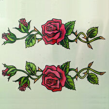2 Climbing Roses Temporary Tattoo Body Art