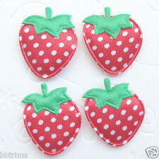"""US SELLER- 60 x 1"""" Red Padded Polka Dot Satin Strawberry Appliques for Bow ST64R"""