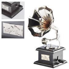 Mini Grammophon Trichtergrammophon Schellackplatte Nostalgie Vintage Shabby Chic
