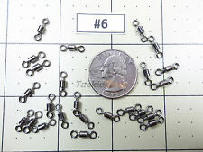 100x #6 Crane Barrel Swivel 70LB Strong Fishing Line Connector Solid Ring USA!