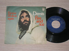 """DEMIS ROUSSOS - FIRE AND ICE / I KNOW I'LL DO IT AGAIN - 45 GIRI 7"""" ITALY"""