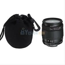 Durable Neoprene Soft DSLR Camera Lens Protector Carry Pouch Bag Case Size S BLK