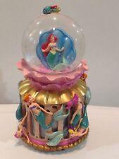 Disney Little Mermaid ARIEL snow globe Daughters Triton music box 1988 RARE