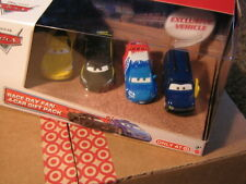 DISNEY CARS 2 RACE DAY 4-PACK LEWIS   RAOU   JEFF   &  CLUTCH FOSTER