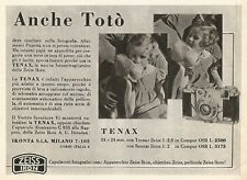 W2480 Zeiss Ikon TENAX - Anche Totò... - Pubblicità 1938 - Old advertising
