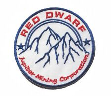 Red Dwarf JUPITER MINING CORP embroidered badge Patch 8.5x8.5cm 3.5""