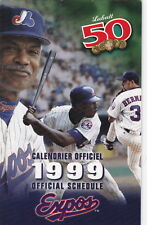 1999 MONTREAL EXPOS BASEBALL POCKET SCHEDULE - FRENCH AND ENGLISH