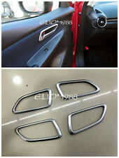 ABS Interior Door Handle Bowl Frame Cover Trim 4pcs for Mazda 2 Demio 2015 2016