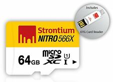 Strontium NITRO 64 GB UHS-I microSDHC/XC with OTG Card Reader 64GB Micro SD
