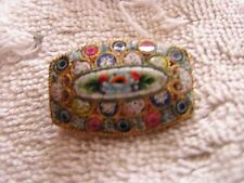 Antique Art Deco Micro Mosaic Pin Beautiful Made in Italy