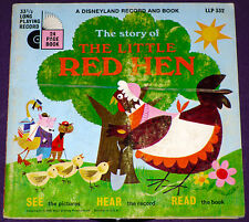 Little Red Hen - Disney Record & Book - LLP 332 w/Record! See Hear And Read!!!