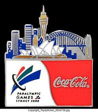 OLYMPIC PINS 2000 SYDNEY COKE SPONSOR PARALYMPIC GAMES