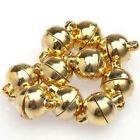 10 Sets Silver/Gold Plated Round Beads Magnetic Clasps 6/8mm For Necklace DIY JR
