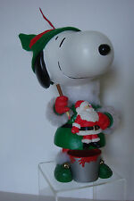 VINTAGE PEANUTS SNOOPY MOVING CHRISTMAS ELF MUSICAL FIGURE BY UFS