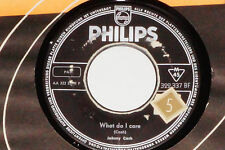 """JOHNNY CASH -What Do I Care / All Over Again- 7"""" 45 Philips Records (322 337 BF"""