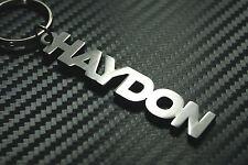 HAYDON nom personnalisé Porte-clé porte-clé Sur-mesure Acier Inoxydable Cadeau
