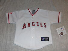 MLB LA Angels White Mike Trout #27 Kids Baseball Majestic Jersey Sz 24M NWT