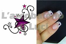 20 AUTOCOLLANTS POUR ONGLES èTOILE VILOLET TRIBAL STAR  NAIL ART NAILS STICKERS