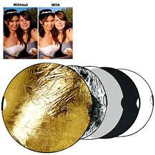 "Portable Multi Disc 43"" Photography Reflector 5-in-1 Circular Collapsible"