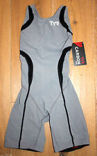 NEW TYR WOMENS CARBON Aeroback SHORTJOHN TRISUIT - GRAY BLACK - USA MADE - Small