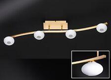 Deckenleuchte LED Deckenlampe Lampe Design LED Decken Leuchte Wohnzimmer Messing