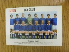 1971/1972 Daily Mirror: Chesterfield - 'My Club' Colour Team Group Image With Pl