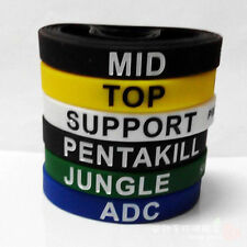 6xLOL League of Legends ADC Jungle Support Top Mid LOL Theme Silicone Wristbands