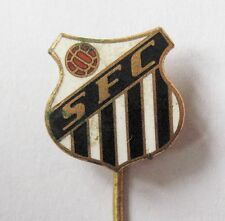 SANTOS Brazil - Fantastic Crest Style Enamel Football Stick Pin Badge