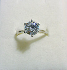 925 St silver ring, Swarovski crystal solitaire, size 'R' US 8.5.