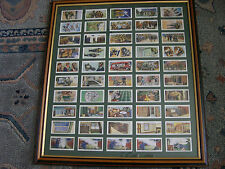 Air Raid Precautions  Wills Original Set of 50 1938 in Double Sided Glazed Frame