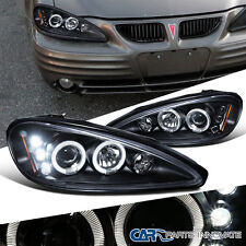 Pontiac 99-05 Grand Am LED Halo Projector Headlights Lamp Black